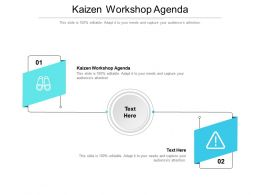 Kaizen Workshop Agenda Ppt Powerpoint Presentation Samples Cpb