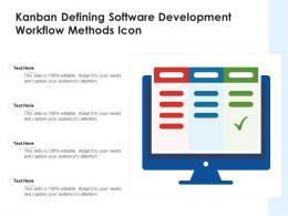 Kanban Defining Software Development Workflow Methods Icon