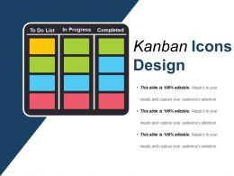 Kanban Design Icons Ppt Example