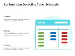 Kanban Icon Depicting Tasks Schedule