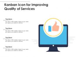 Kanban Icon For Improving Quality Of Services