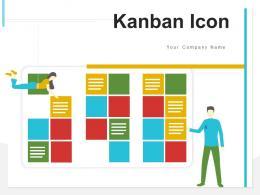 Kanban Icon Management Development Presenting Software Workflow