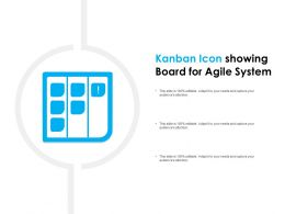 Kanban Icon Showing Board For Agile System