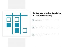 Kanban Icon Showing Scheduling In Lean Manufacturing