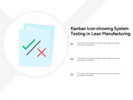 Kanban Icon Showing System Testing In Lean Manufacturing
