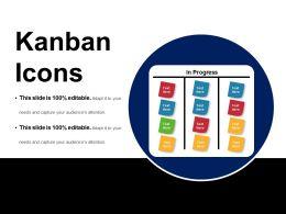Kanban Icons Ppt Example File