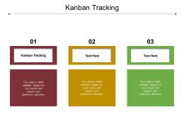 Kanban Tracking Ppt Powerpoint Presentation Ideas Gridlines Cpb
