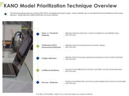 Kano Model Prioritization Technique Overview Ppt Powerpoint Presentation Ideas Inspiration