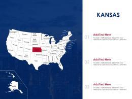 Kansas Map Powerpoint Presentation PPT Template