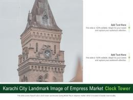 Karachi City Landmark Image Of Empress Market Clock Tower Powerpoint Presentation PPT Template