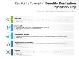 Kay Points Covered In Benefits Realization Dependency Map