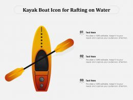 Kayak Boat Icon For Rafting On Water