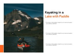 Kayaking In A Lake With Paddle