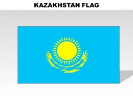 Kazakhstan Country Powerpoint Flags
