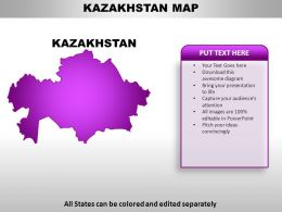 Kazakhstan Country PowerPoint Maps