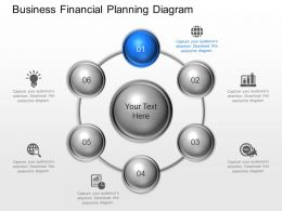 kb Business Financial Planning Diagram Powerpoint Template