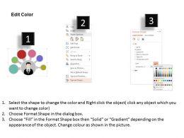 57763818 Style Circular Semi 6 Piece Powerpoint Presentation Diagram Infographic Slide