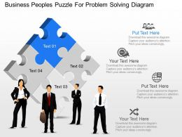 kc Business Peoples Puzzle For Problem Solving Diagram Powerpoint Template
