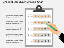 kd_checklist_star_quality_analysis_chart_flat_powerpoint_design_Slide01
