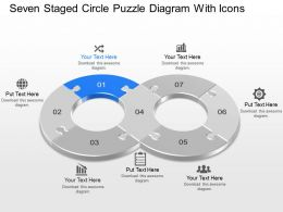 kd Seven Staged Circle Puzzle Diagram With Icons Powerpoint Template