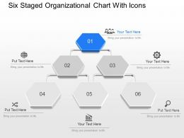 Kd Six Staged Organizational Chart With Icons Powerpoint Template