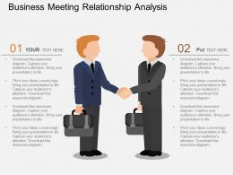 ke Business Meeting Relationship Analysis Flat Powerpoint Design