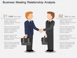 ke Business Meeting Relationship Analysis Flat Powerpoint Design
