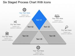 Ke Six Staged Process Chart With Icons Powerpoint Template