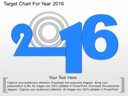 ke Target Chart For Year 2016 Powerpoint Template