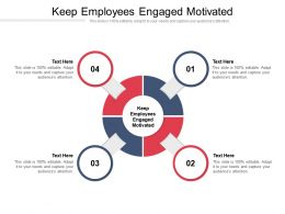Keep Employees Engaged Motivated Ppt Powerpoint Presentation File Graphics Design Cpb