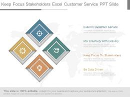 Keep Focus Stakeholders Excel Customer Service Ppt Slide