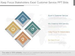 Keep Focus Stakeholders Excel Customer Service Ppt Slide