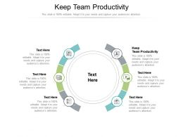 Keep Team Productivity Ppt Powerpoint Presentation Visual Aids Diagrams Cpb
