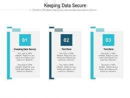 Keeping Data Secure Ppt Powerpoint Presentation Show Visual Aids Cpb
