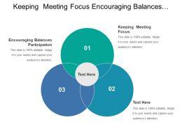 Keeping Meeting Focus Encouraging Balances Participation Lean Manufacturing