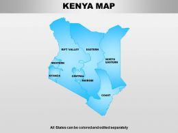 Kenya Powerpoint Maps