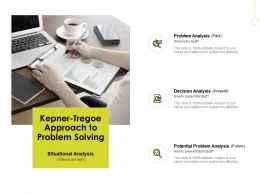 Kepner Tregoe Approach To Problem Solving Problem Analysis B237 Ppt Powerpoint Presentation File