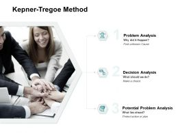Kepner Tregoe Method Decision Analysis Ppt Powerpoint Presentation File Slides