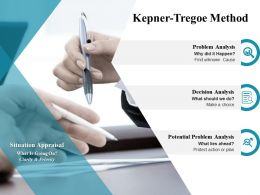 Kepner Tregoe Method Problem Analysis Ppt Powerpoint Presentation Layouts Professional