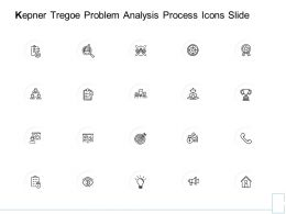 Kepner Tregoe Problem Analysis Process Icons Slide Marketing Ppt Powerpoint Presentation Slides