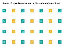 Kepner Tregoe Troubleshooting Methodology Icons Slide Ppt Powerpoint Presentation Model