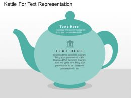 Kettle For Text Representation Flat Powerpoint Design