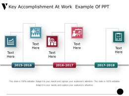 Key Accomplishment At Work Example Of Ppt