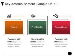 Key Accomplishment Sample Of Ppt