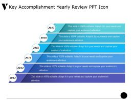 Key Accomplishment Yearly Review Ppt Icon