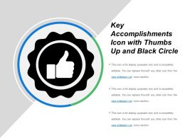 Key Accomplishments Icon With Thumbs Up And Black Circle