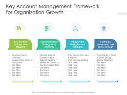 Key Account Management Framework For Organization Growth