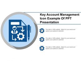 Key Account Management Icon Example Of Ppt Presentation
