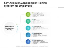 Key Account Management Training Program For Employees