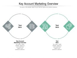 Key Account Marketing Overview Ppt Powerpoint Presentation Outline Styles Cpb